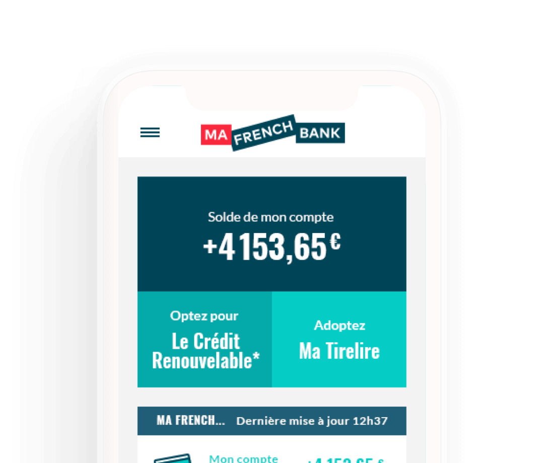 Ouvrir un compte Ma French Bank - Banque mobile
