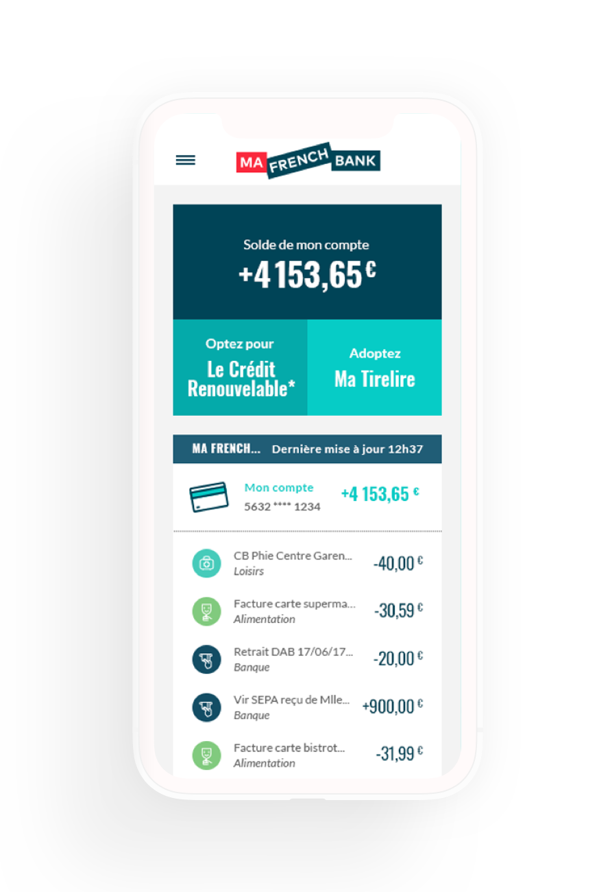 Offre Ma French Bank - Banque mobile